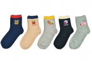 Dámské ponožky s jídlem Aura.via NZC5019 - 5 párů, velikost 35-38
