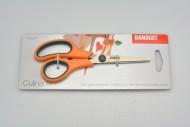 Protiskluzové nůžky pro domácnost BANQUET - Oranžové (15cm)