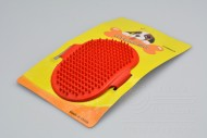 Silikonový kartáč na vyčesávání zvířecí srsti - Červený (12,5cm)