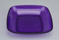 Průhledná plastová miska na potraviny IRAK 700ml - Fialová (19x19x3,5cm)