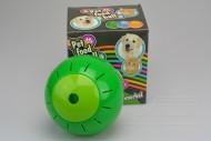 Plastový míček s otvory na krmení - Zelený (12,5cm)