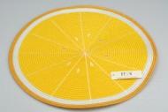 Pletené prostírání - 38 cm - citron
