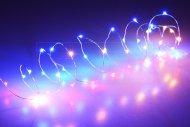 Mikro LED světýlka na baterie (205cm) 40 diod - Multi barevný