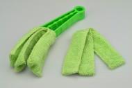 Čistič na žaluzie z mikrovlákna - Zelený (22cm)