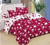 Sedmidílná sada hebkého povlečení 140x200+70x90 - Red & White Stars