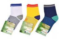 Dětské bambusové ponožky PESAIL QM-5031 - 3 páry, mix barev, velikost 35-38