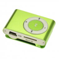 Kapesní MP3 přehrávač - Zelený