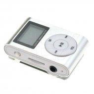 Kapesní MP3 přehrávač s displayem - Stříbrný