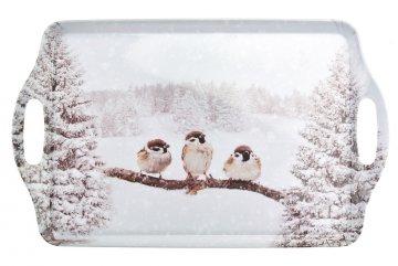 Podnos (38x33cm) - Ptáčci