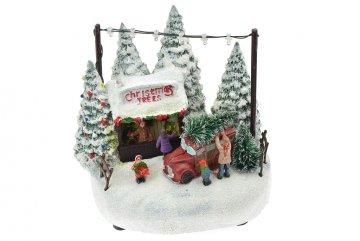 Vánoční scéna (17cm) - Prodej stromečků,…