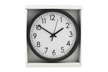 Kulaté nástěnné hodiny, 20cm - Černé