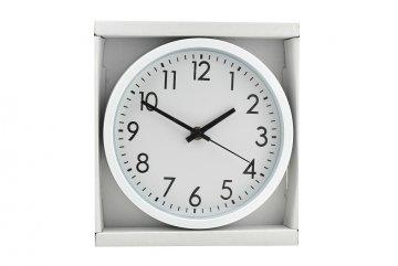 Kulaté nástěnné hodiny, 20cm - Bílé