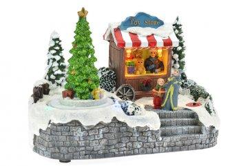 Vánoční scéna - Stánek s hračkami