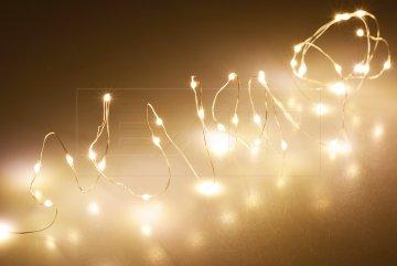 Mikro LED světýlka na baterie (195cm) 40 diod -…