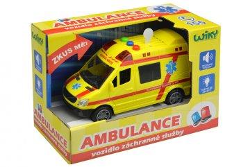 Vozidlo ambulance se zvukovými a světelnými…
