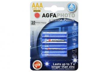 Alkalické baterie Agfa Photo AAA LR03 1.5V - 4ks