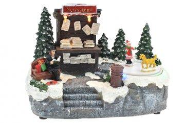 Vánoční scéna - Stánek s novinami