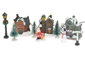 Vánoční scéna - Ulice, 10ks