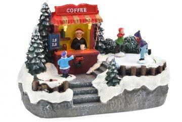 Vánoční scéna - Stánek s kávou