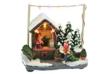 Vánoční scéna - Obchod se stromečky