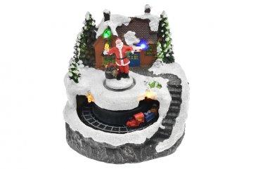 Vánoční scéna (13cm) - Santa s vláčkem,…