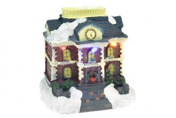 Vánoční scéna - Dům s hodinami