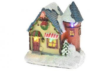 Vánoční scéna - Dům s věžičkou