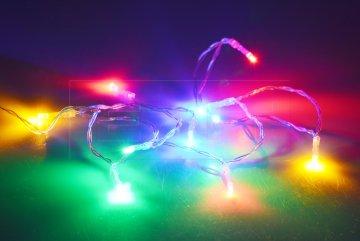 LED světýlka na baterie (130cm) 10 diod - Multi…
