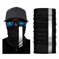 Multifunkčná šatka / Nákrčník s reflexným pásom BLACK ELEGANCE R04