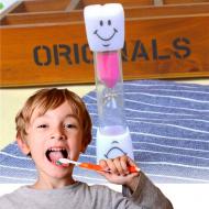 Přesýpací hodiny na čištění zubů - růžové VÝPRODEJ