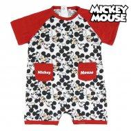 Dětské body s krátkým rukávem Mickey Mouse Červený Bílý - 3 měsíce