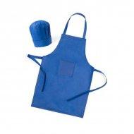 Zástěra a dětská kuchyňská čepice (2 pcs) 144754 - Modrý