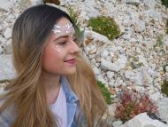 Nalepovací kamínky na obličej - růžové VÝPRODEJ