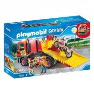 Playset City Life Vehicle Crane Playmobil 70199 (42 pcs)