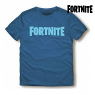Unisex tričko s krátkým rukávem Fortnite Modrý - 10 roků