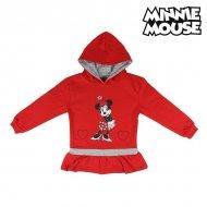 Dívčí mikina s kapucí Minnie Mouse 74243 Červený - 5 roků