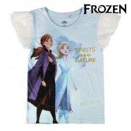 Děstké Tričko s krátkým rukávem Frozen Světle modrý - 6 roků