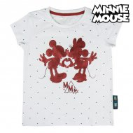 Děstké Tričko s krátkým rukávem Minnie Mouse Bílý - 10 roků