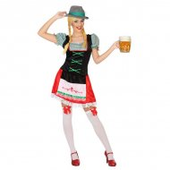 Kostým pro dospělé Němka Zelená (1 Pc) - XS/S