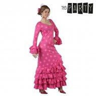 Kostým pro dospělé Sevillanka Růžový - XL