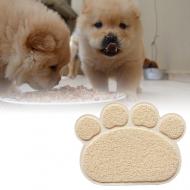 Podložka pod psí misku - béžová VÝPRODEJ