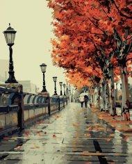 Malování podle čísel - podzimní procházka
