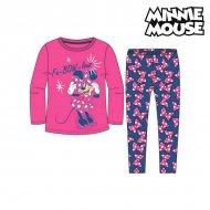 Pyžamo Dětské Minnie Mouse 74738 Fuchsiová Modrý (2 Pcs) - 2 roky