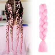 Vlasový příčesek - růžový VÝPRODEJ