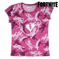 Děstké Tričko s krátkým rukávem Fortnite Růžový - 12 roků
