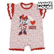 Dětské body s krátkým rukávem Minnie Mouse Červený Bílý - 18 měsíců