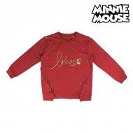 Dívčí mikina s kapucí Minnie Mouse 74245 Červený - 12 roků