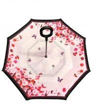 Obrácený deštník - růžové květy