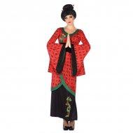 Kostým pro dospělé Číňanka Červený (1 Pc) - XL