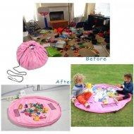 Vak na hračky růžový - velký VÝPRODEJ